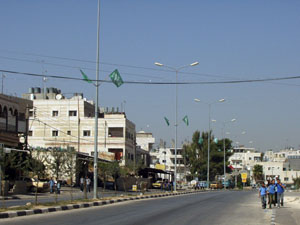 Hamas flags in Bethlehem